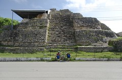 Oh look! A pyramid (speed6ump) Tags: pan american highway bicycle tour bike touring mexico yucatan pyramid maya ancient acanceh