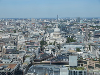 View of St Paul's Cathedral, BT Tower etc. from the Sky Garden