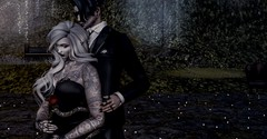 Slow Dancing (☢.:Myth:.☢) Tags: secondlife sl dancing moonlight shimmer sparkle snake babes maitreya together alone closeness mine his