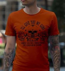 I'll give you my guns. When you pry them from my cold dead hands. Black Print. Gildan Ultra Cotton T-Shirt. Texas Orange.  | Loyal Nine Apparel (LoyalNineApparel) Tags: 2ndamendment 3percent 556 ar10 blackriflesmatter comeandtake comeandtakeit defendthesecond firearms freedom gun gunchannels gunlife guns gunslifestyle igmilitiaca loyalnineapparel loyalnineclothes makeamericagreatagain menfashion nra patriots pew pewpew progun rifle secondamendment thegunlife thepewpewlife threepercent