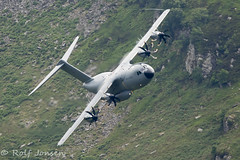 ZM417 Airbus A400M-180 Royal Airforce Mach Loop 11.06-18 (rjonsen) Tags: plane airplane aircraft aviation military transport mach loop wales snowdonia flying low level lfa7 turboprop
