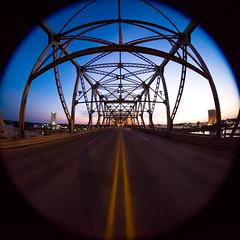 She's Gone (Thomas Hawk) Tags: america caddo caddoparish longallenbridge louisiana shreveport usa unitedstates unitedstatesofamerica bridge sunrise fav10 fav25 fav50