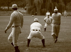Vintage Baseball, Cantigny Park. 43 (EOS) (Mega-Magpie) Tags: canon eos 60d outdoors vintage baseball cantigny park wheaton dupage il illinois usa america sepia team players sports man guy dude fella men person people