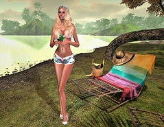 Chillin' At Lemon Beach (SherriOhCherri) Tags: beachedbunnyhunt8 ebp tbbh8 {rayn} hc {limerence} doux breathe sorumin secondlifehunts evilbunnyproductions secondlifeblog catwa maitreya