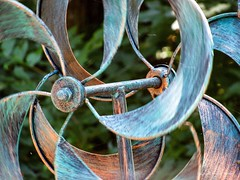 Playing on the Wind (Little Hand Images) Tags: whirlygig kinetic windturner metal spinning movement