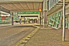 Train and bus station Zaandam Central. (PhotoTJH) Tags: phototjh phototjhnl bus trein train railway spoorwegen nederlandse prorail station centraal central zaandam zaanstad connexxion reizen travel stadshuis cityhall hdr bracketing straat street urban