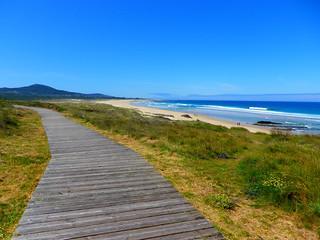 Paseando por la playa de las Furnas en Xuño Porto do Son(Coruña-España)