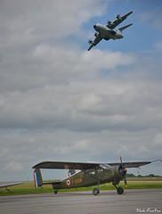 1952 Max-Holste MH-1521 Broussard & 2017 Airbus A400M (pontfire) Tags: maxholste mh1521 broussard airbus a400m fgdsm meeting aérien base aérienne 105 evreux frbac