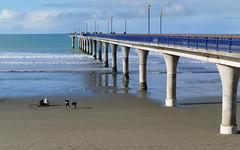 New Brighton Pier.Christchurch. NZ. (Bernard Spragg) Tags: christchurch newbrightonsand seascape lumix landscale ocean newbrighton pacificocean lumixfz1000