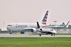 Cessna 560XL  D-CDDD and Boeing 767-323(ER)  N381AN — American Airlines (Wajdys) Tags: cessna 560xl dcddd boeing 767323er n381an— american airlines b767 series323er c56x 2engines jet cn5606243 b763 cn25450 vaclavhavelairportprague ruzyně ruzyne letiště letisko airport flughafen praha prague praga prag eu europe czech czechia travel transport spotter spotters airliners plane planes iata departures arrivals flickr photo photography photographer followme airfleets prglkpr invitation amazing cool airplanes aircrafts planespotting aviones avión runway road olympus pl7 ed75300mm b767323er flight americanairlines