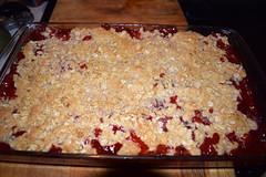 Strawberry-Rhubarb Crisp (RockN) Tags: strawberries rhubarb dessert tasty june2018 worcester massachusetts newengland