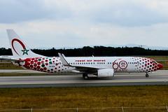 "CN-RGV Royal Air Maroc Boeing 737-800 ""60 Years"" special colours (czerwonyr) Tags: cnrgv royal air maroc boeing 737800 60years special colours fra eddf"