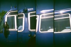 Bus (Crawford Brian) Tags: bus chicago cta chicagotransitauthority lomo lomography supersampler film analog kodak gold400iso 35mm expired driveby motion blue illinois transit