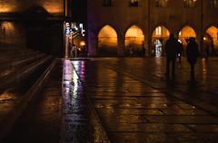 Tonight walk (damar47) Tags: bologna street streetphotography citycenter pentax pentaxart pentaxian italia italy emiliaromagna streetcolor colors colori walkingaround history citybynight night nightlights bolognabynight notte luci blur blurry reflection lightroom adobelightroom lr5 ricohpentax da 40mm xs