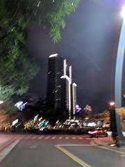 Blurry Building (earthdog) Tags: 2018 building googlepixel pixel city night andoridapp moblog cameraphone skyscraper lowlight sky road needstags needstitle travel businesstravel work