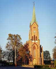Horten Kirke (Geir Bakken) Tags: church horten architecture kodak ektar mamiya rb67 film analog norway vestfold tree perfectbeauty noperson