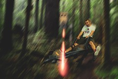 Speeder Bike Chase, Hollywood Studios (christopher.czlapka) Tags: disney hollywood hollywoodstudios orlando florida flikr woods tree forest film movie photo photography photoshop photoshopfor flickrphotos speederbike starwars