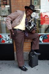 A NYC icon...photographer Louis Mendes. (Livia Lopez) Tags: louismendes icon photographer photography canon bhphoto man camera nyc newyorkcity manhattan street