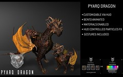 Feral - Pyarq Dragon (Feral-sl) Tags: dragon bento animated bentoanimated secondlife effects particles gestures realistic customizable character