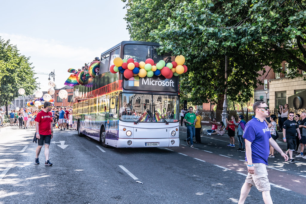 ABOUT SIXTY THOUSAND TOOK PART IN THE DUBLIN LGBTI+ PARADE TODAY[ SATURDAY 30 JUNE 2018] X-100117