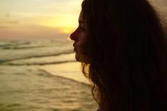 ORIGINAL Maggie Sunset Beach Silhouette (markdavidsmom) Tags: florida panamacitybeach beach portrait goldenlight silhouette sunset teenager maggie daughter