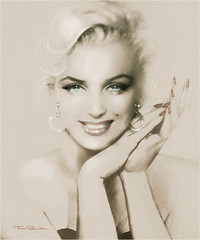 MM 133.sepia.hell (ARTbyAngieBraun) Tags: marilynmonroe theodanella art artwork portrait marilyn normajean beauty beautiful amazing awesome geourgos poster canvasprint painting posters marilynart