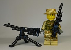 BrickArms M240 and M240D Prototypes (enigmabadger) Tags: brickarms lego custom minifig minifigure fig weapon weapons accessory accessories combat war prototype proto test modern
