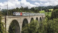 VAE 2574 @ Degersheim (Jeroen's fotosite) Tags: bahn degersheim eisenbahn kantonstgallen railways re456 sob schweiz sudostbahn svizzera swiss switzerland südostbahn train trein vae voralpenexpress voralpen weissenbachviadukt wissbach zug zwitserland sanktgallen ch
