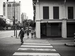 """Stripes"" (Dinozauw) Tags: bw black white monochrome street singapore southeastasia streetphotography monotone chinatown road mzuiko1442mmf3556iir walking alley stripes locals noir alleyway urban outdoor candid blackandwhite people pedestrian crossing signage zebracrossing lines"