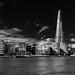 City Hall and the Shard (mono)