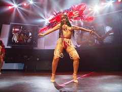 Atlantic MAS costume red,white and blue (stephenweir) Tags: atlanticmas redwhiteandblue beads feathers material skimpycostume dancing onstage catwalk fashionshow costumes caribana august4th grandeparade playingmas costumefashionshow soca polsonpier rebelnightclub