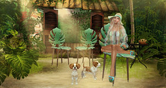 Jungle Bar (kynne L.) Tags: backdrop photo irrisistible shop swank event fantasy jungle tropical plant
