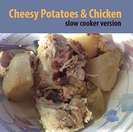 hero image cheesy chicken and potatoes