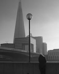Lost on You (Stephen Toye) Tags: shard girl bridge thames london street streetphotography bw blackandwhite monochrome leica leicax2 thameswalk thoughtful contemplative thethames theshard architecture londonbridge