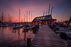 Annapolis Docks (Dave6163) Tags: sunset docks sailboats annapolis maryland sky water bay boat
