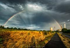 rainbow (fotos_by_toddi) Tags: fotosbytoddi voerde niederrhein nrw nordrhein westfalen deutschland germany drausen rainbow regenbogen regen sonne wolken clouds cloudy sony sonyalpha77 sky alpha a77 alpha77 steag kraftwerk trockenheit dry trocken