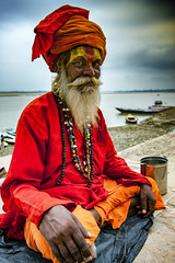 "An Indian Sadhu In Varanasi (El-Branden Brazil) Tags: varanasi india indian ganges ganga ceremony hindu hinduism asian asia sacred holy mystical ""south asia"" sadhu"