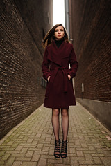 Amsterdam Days 2018 #4 (mobile_gwenster) Tags: amsterdam d700 nikon 35mm sigma art legs heels stockings alley backlit coat 70s