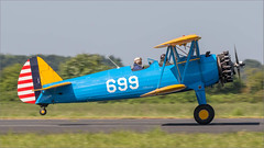 USAAC Boeing B.75N1 (Modified) Stearman G-CCXB '699' (Hugh Dodson) Tags: abingdonairshow usaac boeingb75n1modified stearman gccxb 699