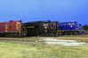 NS Heritage Locomotives Family Photographs 8103 Night 22 (Joseph C. Hinson Photography) Tags: norfolkwesternrailway spencer northcarolina norfolksouthern heritagepaintscheme nsheritagelocomotivesfamilyphotographs ns8103 spencernc roundhouse turntable southernshops spencershops nw620 gp9 gp30 nw522