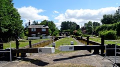 Lock 66, Wheelock. (Wildlife Terry) Tags: lock66 lockkeeperscottage cottonlane wheelock sandbach cheshire trentmerseycanal longestday summersolstice summer june2018 cheshireringcanals 30dayswild