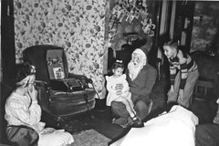 St.Claus (Leifskandsen) Tags: old vintage black white st claus christmas people children camera scanned living leifskandsen skandsen