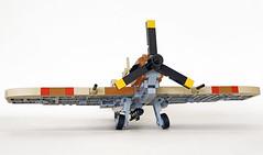 Supermarine Spitfire Mk Vb trop (John C. Lamarck) Tags: lego jiestar ww2 wwii war aircraft plane avion fighter brickmania