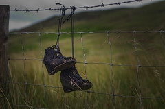Once Loved (Glen Parry Photography) Tags: shoes left lost grass hills todmorden stoodleypike 50mm nikon d7000 glenparryphotography