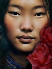 Madamnesia digital artist, portrait (Madamnesia_illustrator) Tags: madamnesia illustrazione inspiration mongolia rosa portrait portfolio volto donna ragazza immagine ritratto fotografia fantasy