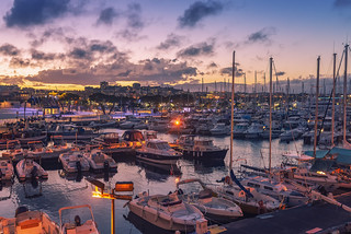 Port Vauban, Antibes, France - High ISO