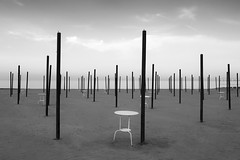 beach (Roberto.Trombetta) Tags: beach summer winter venice blackandwhite venezia table coffee sabbia surreal empty umbrella black white bianco nero bw landscape sand sea ocean swell big wave water sony alpha 7rm2 7rii batis225 carl zeiss batis 25 fine art fineart mare oceano italy italia coast minimal minimalism