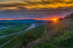 Sonnenuntergang an der Mosel / Sunset on the Moselle (wernerschappe) Tags: lieser sonnenuntergang vineyard germany rheinlandpfalz rhinelandpalatinate mosel moseltal moselvalley flus river himmel sky wolken clouds sunset landschaft landscape weinberg deutschland nikond5300 ngc