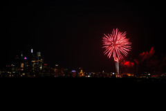Philadephia Fireworks from New Jersey (Brian E Kushner) Tags: fireworks camden new jersey nj haddon township penns landing ben franklin bridge philadelphia center city south skyline cityscape bkushner d850 nikond850 ©brianekushner nikon70200mmf28 70200mm f28 nikor