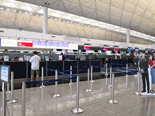 China Airlines check-in desks